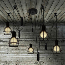 Novelty spider Pulley pendant Lamp kitchen Bar adjustable Retro industrial lighting candelabro Dining Room vintage pendant light