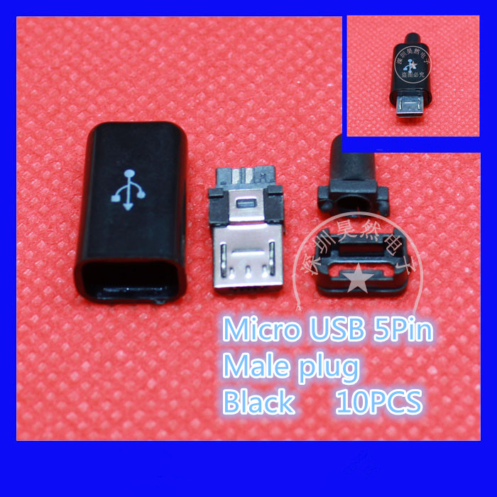 10 шт./лот yt2153b микро-USB кабель 5pin мужской разъем черный/белый сварки данных OTG кабель интерфейса командной строки для DIY кабель для передачи данных аксессуары