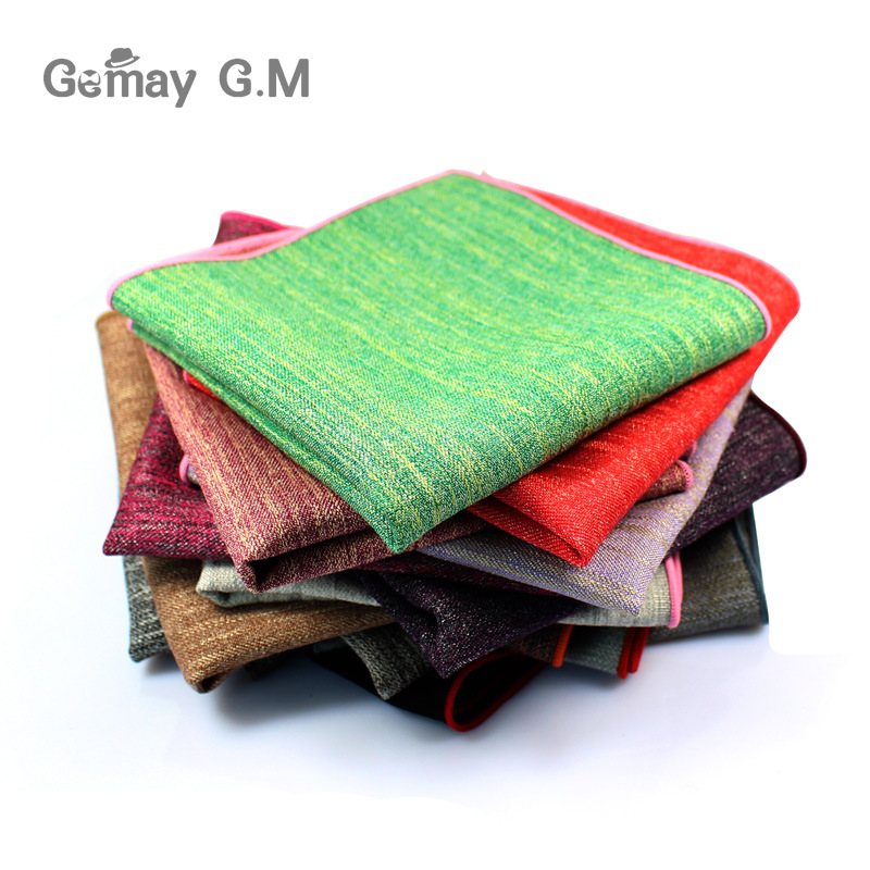 Fashion Men's Handkerchief Classic Cotton Pocket Square High Quality Male Pocket Towels Wedding Accessories Hand Towel