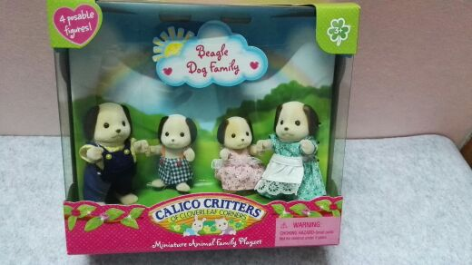 Beagle dog family mini size Sylvanian Family original Figures font b Anime b font Cartoon figures