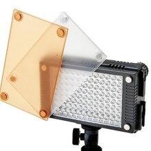 Photoflood lambası 5600 K/3200 K 2 ile LED Video fotoğraf flaş Işık Lambası Kamera video Kamera için Filtre daha iyi HDV-Z96
