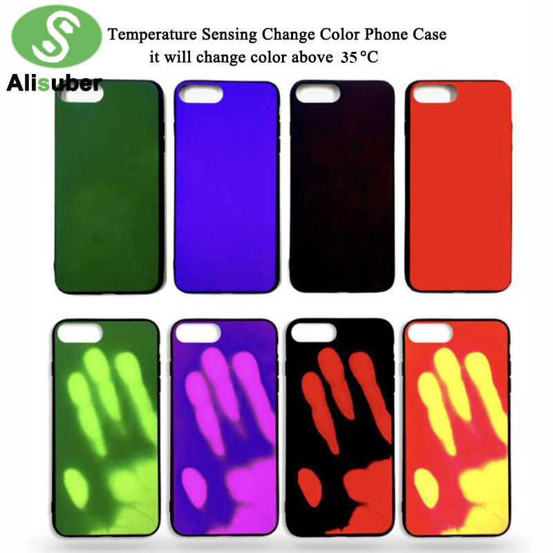Alisuber Temperature Sensing Change Color Phone Case for Samsung Galaxy S7  S8 Case Thermal Sensor Matte PC Mobile Phone Case