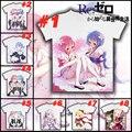 Anime Re: Zero kara Hajimeru Isekai Seikatsu REM RAM Unisex Black T-Shirt Tops