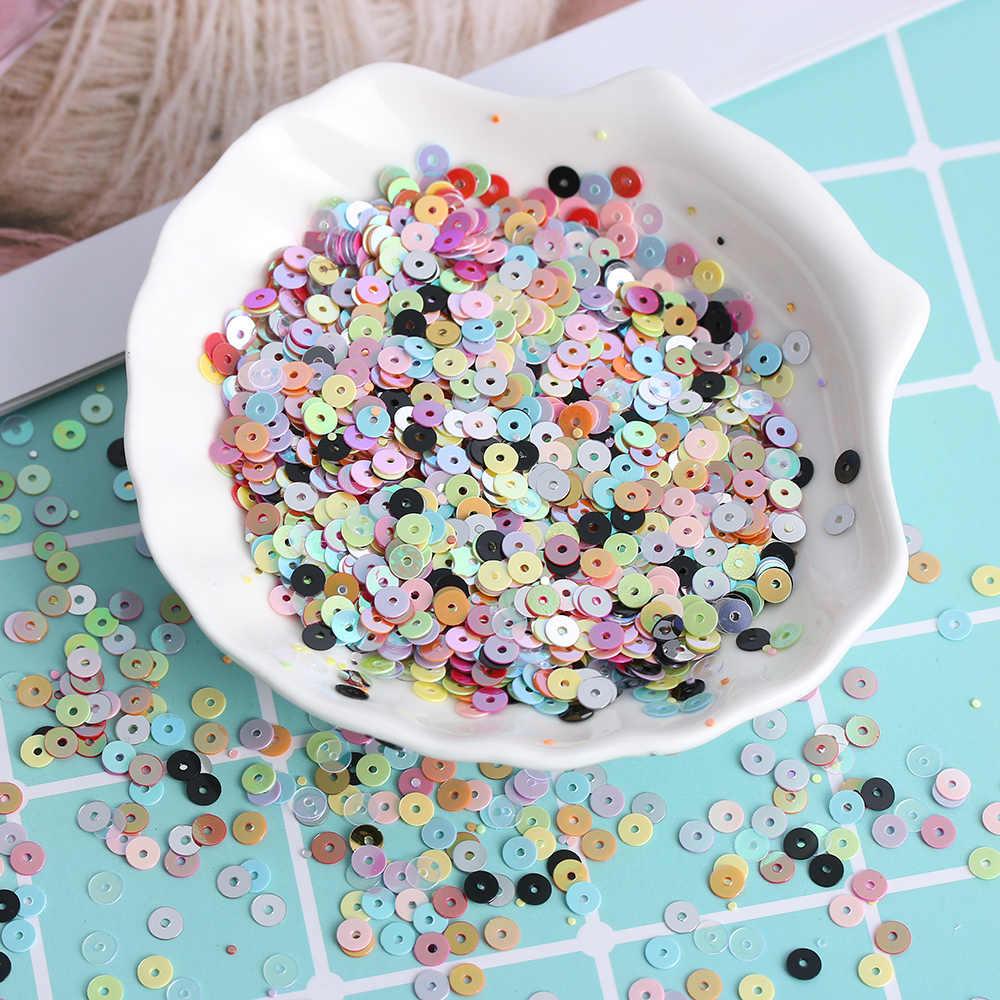 1000 Buah 4 MM Pasang Sendiri Kerajinan Multicolor Plastik Longgar Payet untuk Rumah Pesta Pernikahan Dekorasi Perhiasan DIY Jahit Aksesoris