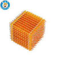 Baby Montessori Math Learning Education Games Preschool Teaching Material Golden Bead Thousand Cube
