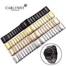 CARLYWET 20 22 26mm 316L Stainless Steel Easy Quick Install Replacement Watch Bands Bracelets Straps For Fenix 3/5/5X/5S