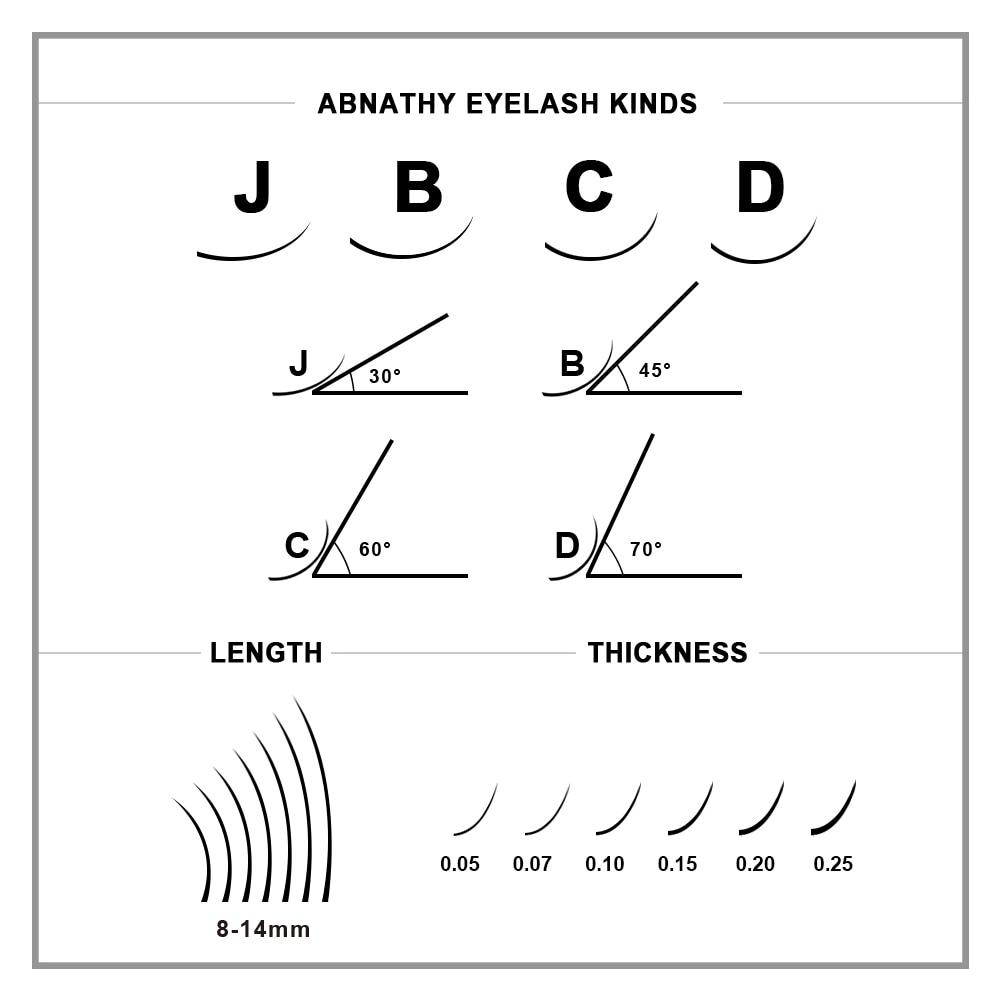 All Size B/C/D curl 1 trays ,Individual natural Mink Eyelash Extension. Artificial Fake False Eyelashes