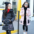 Invierno de La Manera Abajo de la muchacha chaquetas/abrigos Abrigos de invierno del bebé pato gruesa campera de abrigo Niños Ropa Exterior para-30 grados chaquetas
