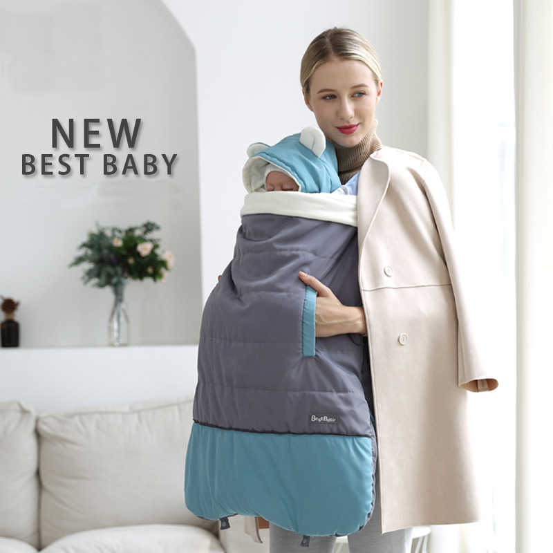 Funda cálida para portador de bebé, manta, manta para invierno, canguro infantil, correa a prueba de viento, colcha para abrazo, taburete de cintura, accesorios para cochecito