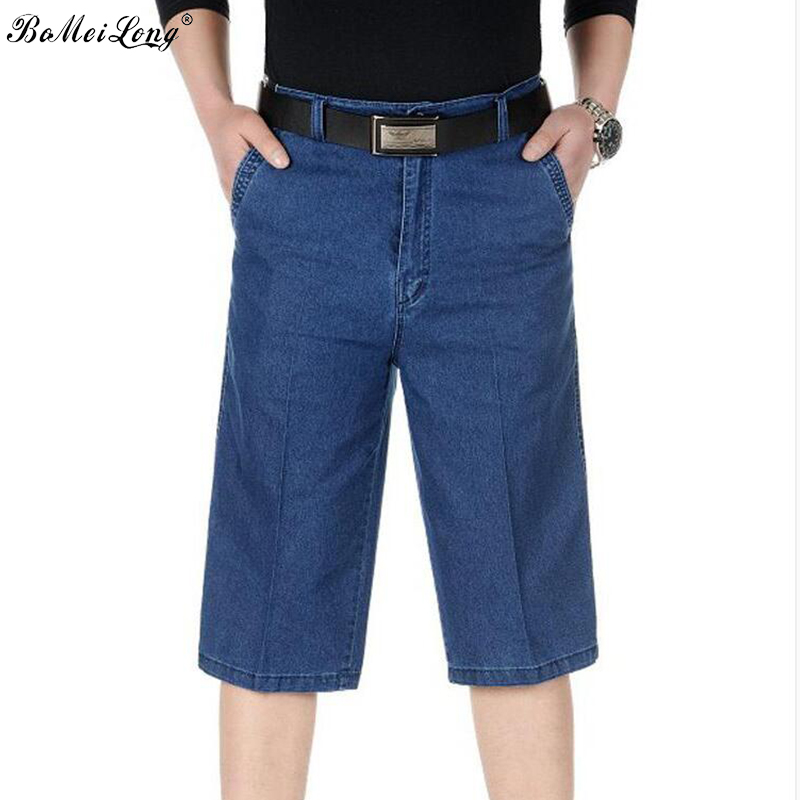 2017 New Fashion Mens Stretch Short Jeans Brand Clothing Bermuda Summer Board Shorts Thin Breathable Denim