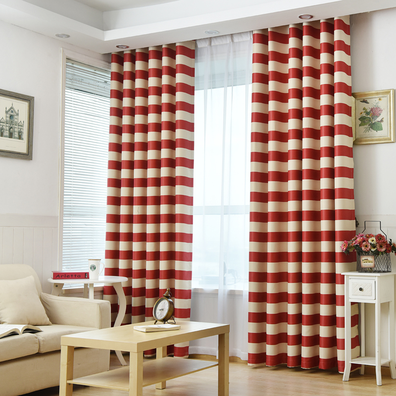 FUNIQUE 2017 New Cloth Curtain For Living Room Double Color Staight Stripe Curtain High Shading Curtain Elegant Noble Curtain