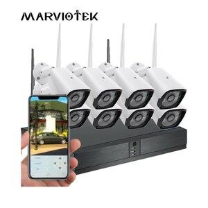 Image 1 - 8CH 1080P HD אבטחת בית מצלמה מערכת 4CH CCTV מצלמה חיצוני וידאו מעקב אלחוטי מצלמת ip Wifi NVR ערכת 720P