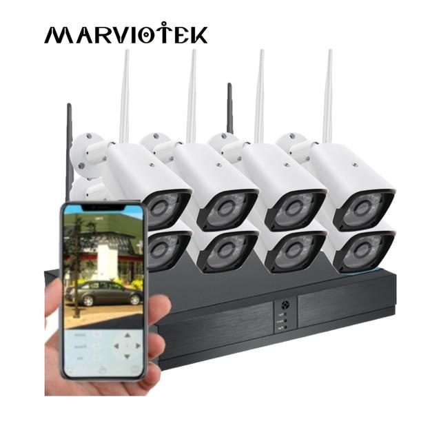 8CH 1080P HD אבטחת בית מצלמה מערכת 4CH CCTV מצלמה חיצוני וידאו מעקב אלחוטי מצלמת ip Wifi NVR ערכת 720P