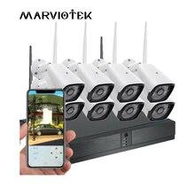 Камера видеонаблюдения HD, 8 канальная, 1080P, система камер домашней безопасности, 4 канала, беспроводная IP камера, Wi Fi, NVR, 720P