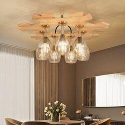 Amerykański litego drewna lampa sufitowa chiński salon restauracja drewna pułap światła indywidualnych restauracja Bar Cafe wina puchar światła|Oświetlenie sufitowe|   -
