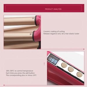 Image 3 - 巻き毛アーティファクト三管液晶ディスプレイ温度梨の花頭髪カーラー髪カーラー