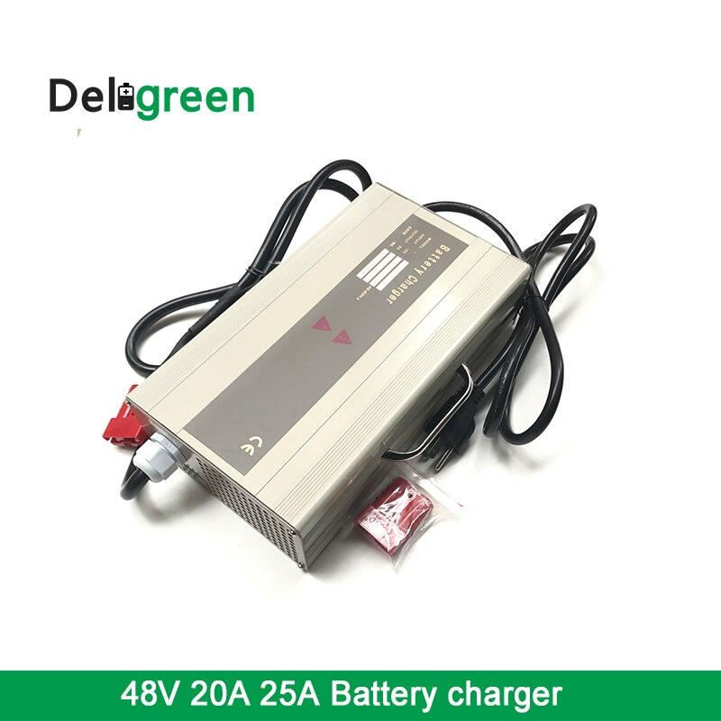 48V20A 25A Caricatore per la Batteria Al Litio e Piombo Acido Batterie e Accumulatori per Scooter Golf Cart