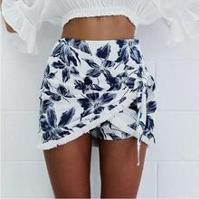 Fashion printing irregular skirt skirt irregular prints to wear hip hip sexy half skirt female 2017