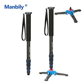 Manbily A-222 65inch 165cm/65 Portable Professional DSLR Camera Monopod&M-1 Base Head Ball Mini Tripod Stand for Canon Nikon tiyiviri mini ball head 1 4 mount for camera tripod ballhead for nikon canon dslr camera dsr mount stand for camera tripod