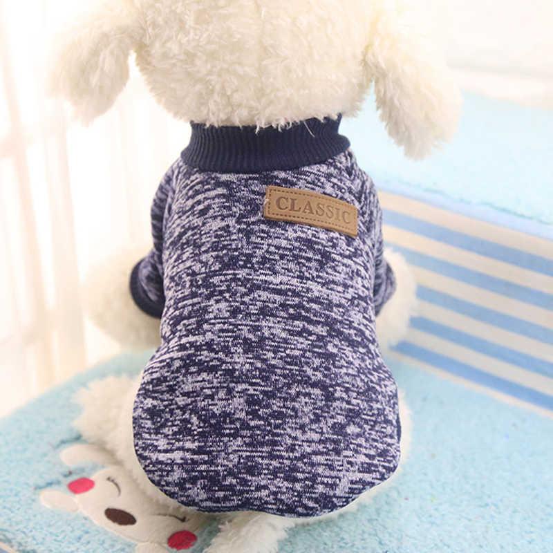 Теплая одежда для собак модные классические шерсть пальто собаки Puppy Cat куртка свитер домашних животных Одежда для маленьких Средний Товары для собак doggyzstyle