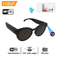 Mini Wireless Sunglasses Camera HD 1080P WiFi Video Voice IP Camcorder Micro DV Recorder Small Eyewear Cam Outdoor Sport Glasses