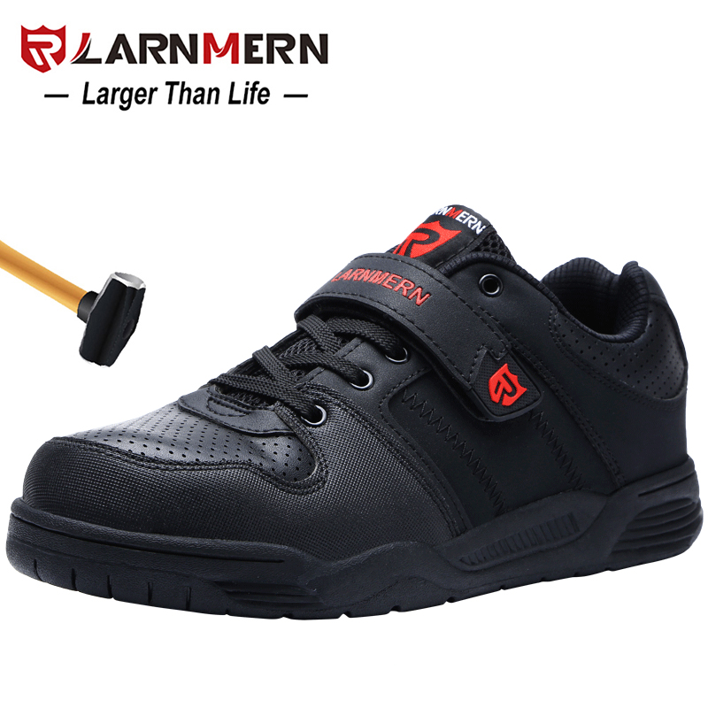 LARNMERN Men s Safety Shoes Steel Toe Working Safety Shoes For Men Breathable Outdoor Ankle Sneaker