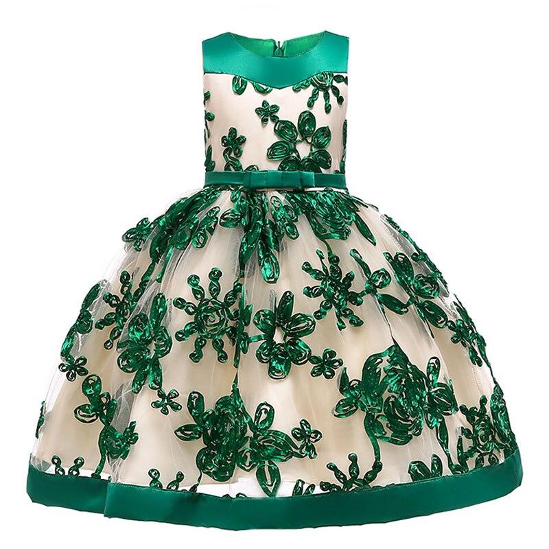 20198 new children's party   dress     flower     girl     dresses   for weddings first communion   dresses   applique baby tutu costume L5052