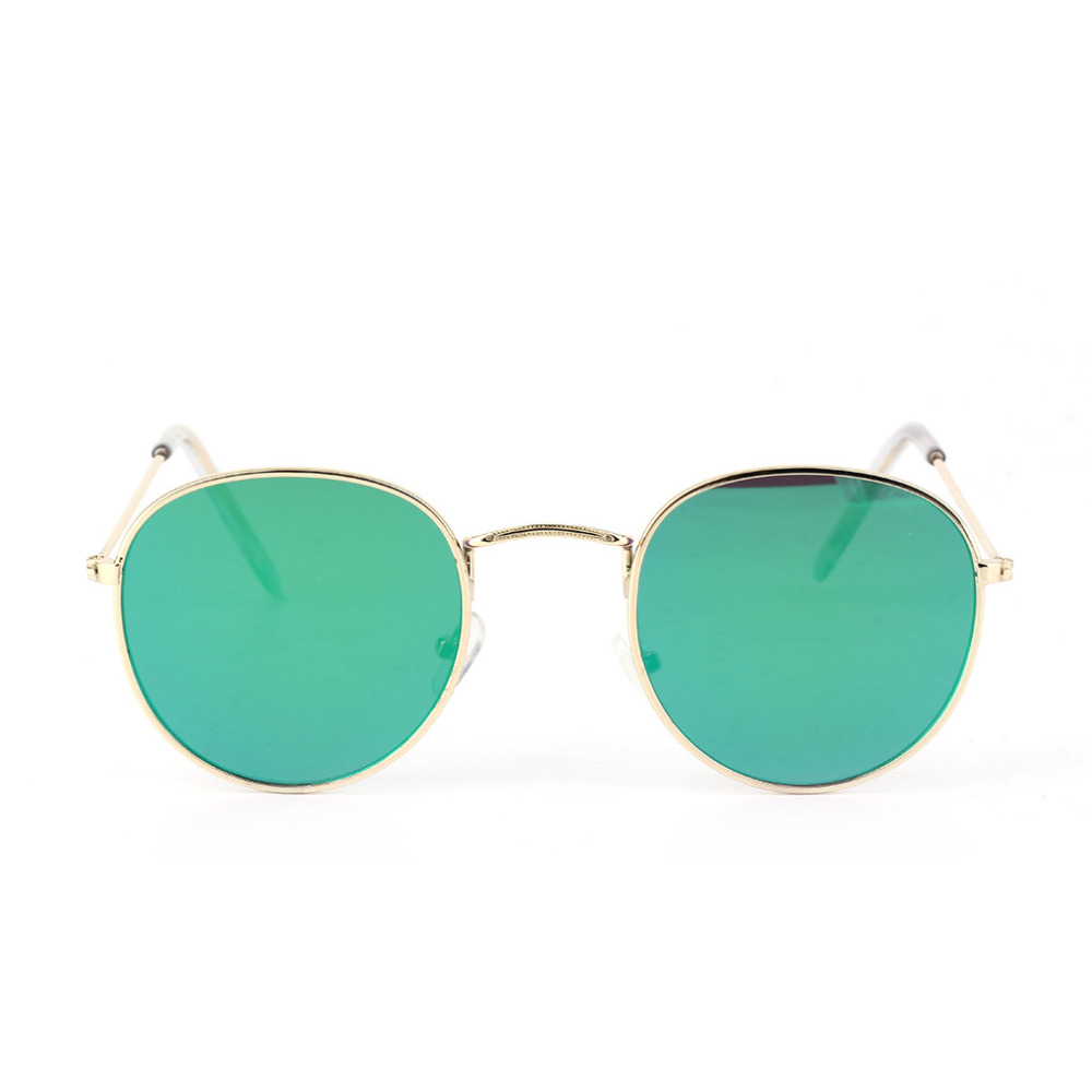 Oversize Cat Sunglasses Women Men Fashion Vintage Metal Frame Mirror Sun Glasses