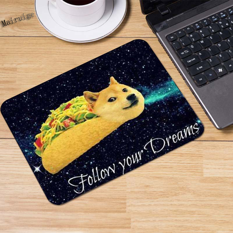 Us 211 8 Offmairuige Customized Non Slip Large Textured Surface Water Complete Doge Rectangle Mouse Pad Durable Large Gaming 220x180x2mm In