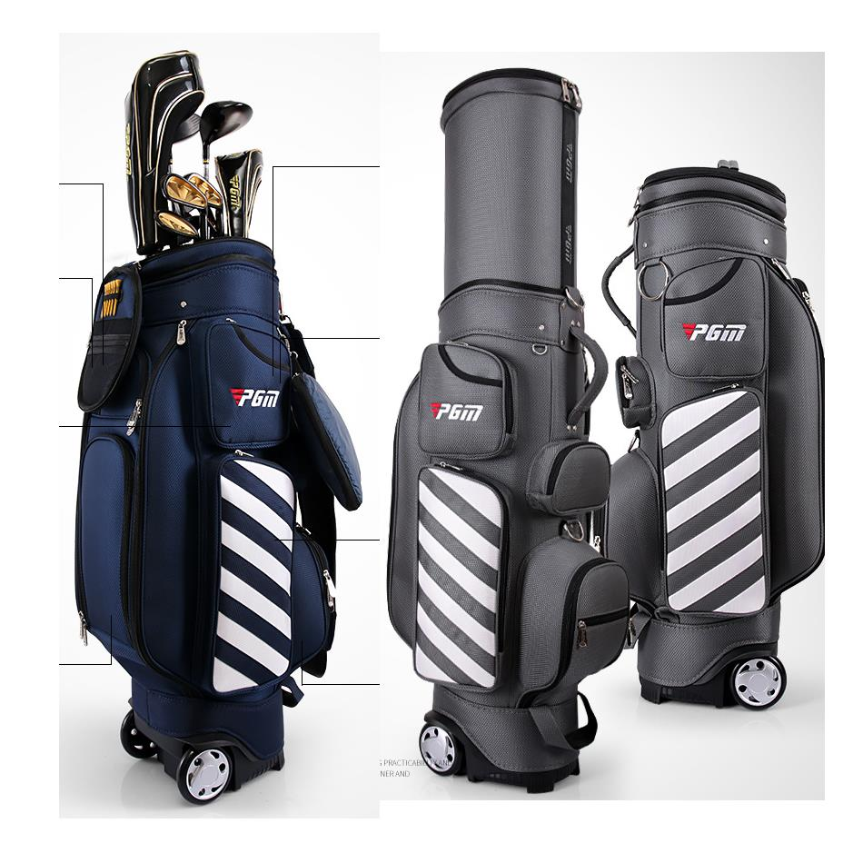 PGM Retractable Golf Bag with Wheel 2017 New Patent Designed Golf Bag Travelling Aviation Bag Hard