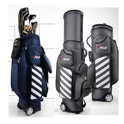 PGM Retractable Golf   Bag with Wheel / 2017 New Patent Designed Golf  Bag / Travelling Aviation Bag  Hard Nylon  A4346