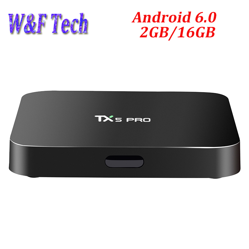 Amlogic S905X Android 6.0 Smart tv box TX5 Pro 2GB 16GB quad core 2.4G&5.8G WiFi 4K H.265 BT 4.0 Android tv box bm8 amlogic s905x android 6 0 marshmallow kodi 17 1 tv box