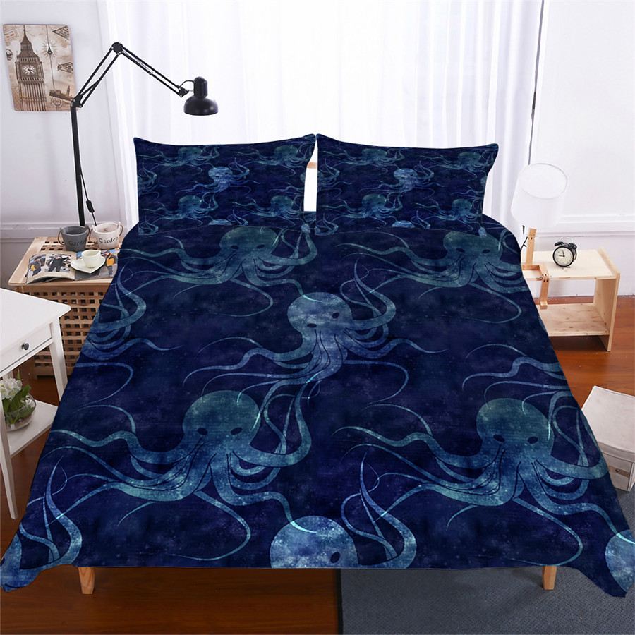 Bedding Set 3D Printed Duvet Cover Bed Set Octopus Home Textiles for Adults Lifelike Bedclothes with Pillowcase ZY04 in Bedding Sets from Home Garden