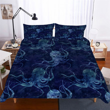 Bedding Set 3D Printed Duvet Cover Bed Octopus Home Textiles for Adults Lifelike Bedclothes with Pillowcase #ZY04