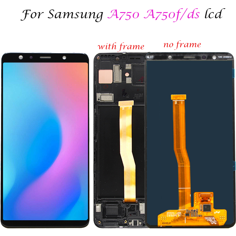 6 0 For Samsung Galaxy A7 2018 A750F A750F DS A750 SM A750F LCD Display Touch