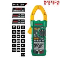 Mastech ms2115b prawda rms digital ac/dc mierniki pojemność tester częstotliwości w/interfejs usb i ncv