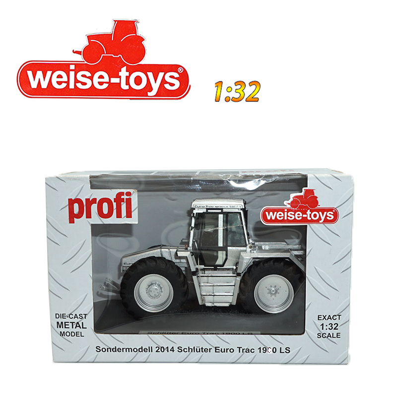 Weise-Toys Silver 2014 Schluter Euro Trac 1900 LS 1:32 Diecast Metal Model Gift new weise toys 1 32 scale die cast metal model 1033 mb trac 900 turbo