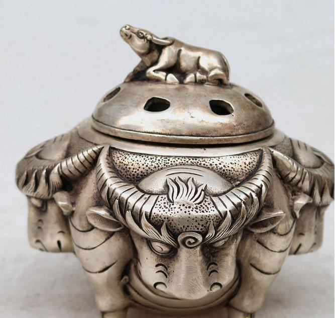 Antique Old MingDynasty censer,Five cattle incense burner,hand crafts,best collection&adornment,free shippingAntique Old MingDynasty censer,Five cattle incense burner,hand crafts,best collection&adornment,free shipping