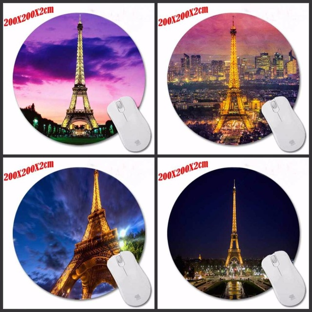 New Arrivals Eiffel Tower Hottest Round 200 2mm Mouse Pad Mousepad Computer Pc