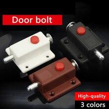 2 шт./лот, черный, коричневый, белый цвет, пластиковая пружинная защелка, дверной болт, дверная защелка, двери шкафа