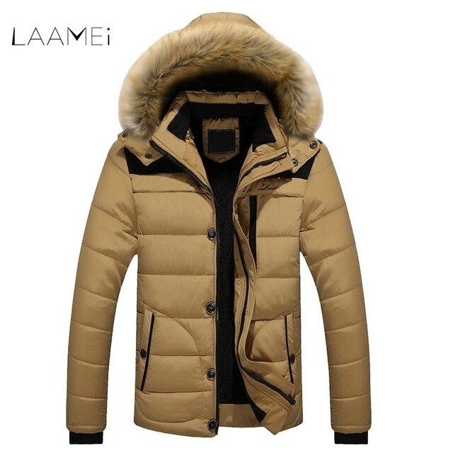 96bc76f4e47 Laamei New FIT -25  C Brand Winter Casual Jackets Men s Parkas Coats Male  Down Keep Warm Faux Fur Lined Parkas Plus Size L-6XL