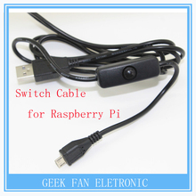 Raspberry Pi Micro USB Power Supply Charging Cable With ON/OFF Switch Cable For Raspberry PI Model B Plus Micro USB Cable