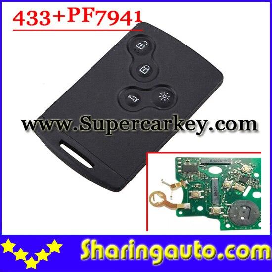 bilder für Nach Markt 4 Knöpfen Smart Card Mit PCF7941 Chip Für (2009-2010) keelao (1 stück)