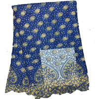 Mesh embroidery african lace fabric 2017 high quality nigerian lace fabrics tulle lilac blue lace fabric for wedding dress SJ01