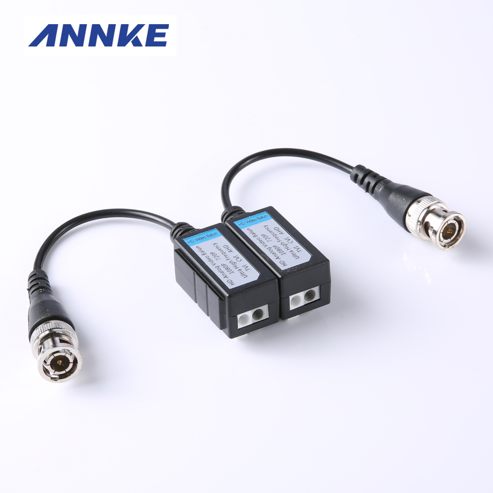 imágenes para 10 Unids Enhanced Video Balun Twisted BNC CCTV Video Balun Pasivo Transceptores UTP Balun BNC Cat5 Apoyo HDCVI/AHD/TVI Cámara
