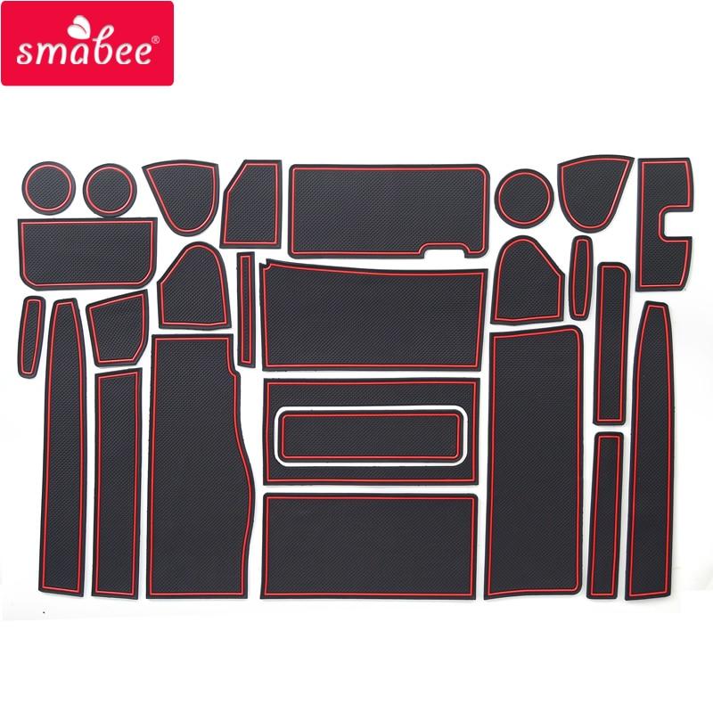 Smabee Gate Slot Mats For NISSAN SERENA C26 2010-2016 Interior Door Pad/Cup Non-slip Mats