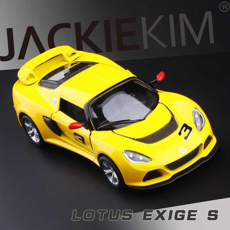 High Simulation Exquisite Collection Toys: KiNSMART Car Styling Lotus Exige S Supercar 1:36 Alloy Sports Car Model Best Gift
