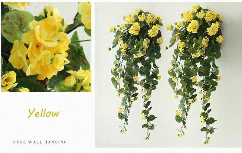 de flores folha verde parede pendurado begonia flores videira