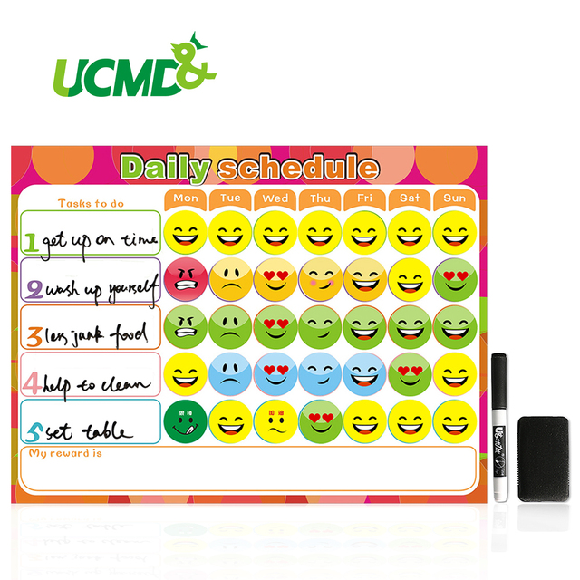 Dry Erase Magnet Weekly Planner Creative To Do List Kids Schedule Magnetic Reward Chart 40 X 30 Cm