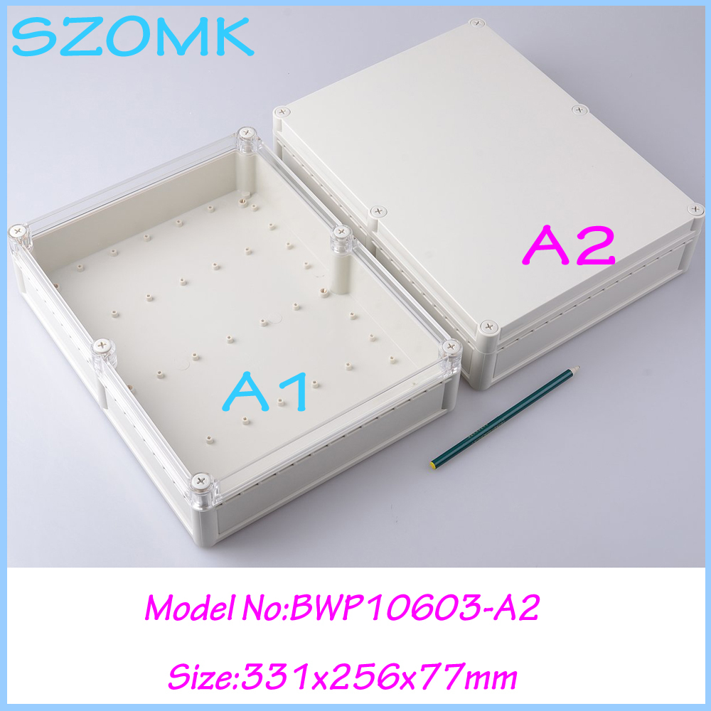 10pcs/lot plastic housing for electronics box plastic electronic enclosure plastic project box abs enclosures for electronics